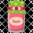 Strawberry Jam Jar Icon