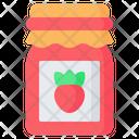 Jam Strawberry Jar Icon