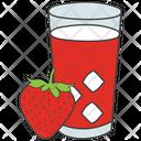 Strawberry Juice Icon