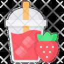 Strawberry Juice Fruit Icon