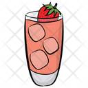 Strawberry Juice Icon