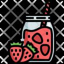 Strawberry Smooties Jar Icon