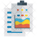 Stream Chart Graphical Representation Area Graph Icon