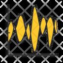 Stream Graph Stream Bar Icon