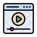 Stream Video Online Video Video Playing Icon