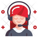 Streamer Voice Professions And Jobs Icon