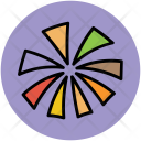 Streamers Party Decorations Icon