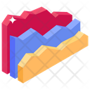 Streamgraph Area Graph Statistical Chart Icon