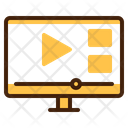 Streaming Video Computer Icon