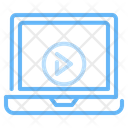 Streaming Elearning Video Player Icon