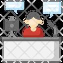 Streaming Blogger Vlogger Icon
