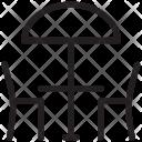 Street Cafe Parasol Icon