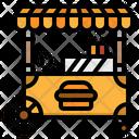 Kiosk Stand Burger Icon