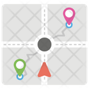 Street Map Navigation Direction Icon