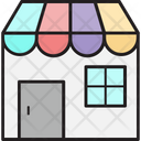 Street Shop Kiosk Food Stand Icon