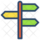 Street Sign Businessman Project Icon