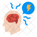 Stress Brain Thunder Icon