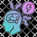 Stress Brain Thunder Icon
