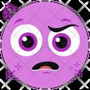 Stressed Face Stressed Emoticon Stressed Emoji Icon