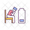 Stressed Medical Workers Icon