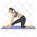 Aerobics Stretch Exercise Gym Workout Icon
