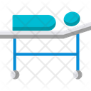 Stretcher Medical Bed Emergency Icon