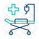 Stretcher Patient Bed Clinic Icon
