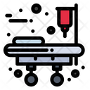 Medical Equipment Stretcher Bed Icon