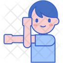 Stretching Arms Icon