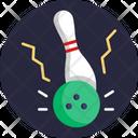 Bowling Strike Skittle Icon