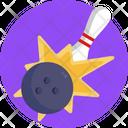 Bowling Strike Bowling Skittle Icon