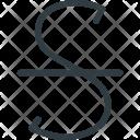 Strike Trough Icon