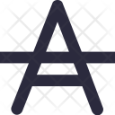 Strikethrough Font Formatting Icon