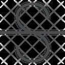 Strike Through Icon