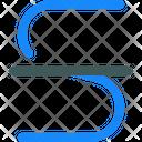Strikethrogh Text Format Icon