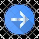 Striped Arrow Navigation Icon