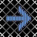 Striped Blue Arrow Icon