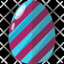 Striped Egg Icon