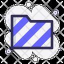 Striped Folder Warning Striped Icon