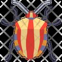 Striped Shield Bug Icon