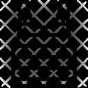 Striped T Shirt Icon