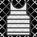 Striped Undershirt Summer Icon