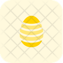 Stripes Decoration Egg Icon
