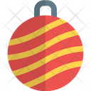 Stripped Bauble Ball Icon