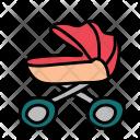 Girl Stroller Pram Icon