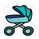 Boy Stroller Pram Icon