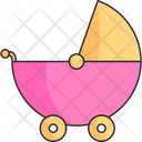 Stroller Girl Baby Icon