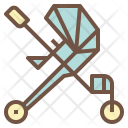 Baby Stroller Cart Icon