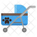 Stroller Pet Puppy Buggies Icon