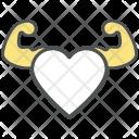Strong Heart Cartoon Icon